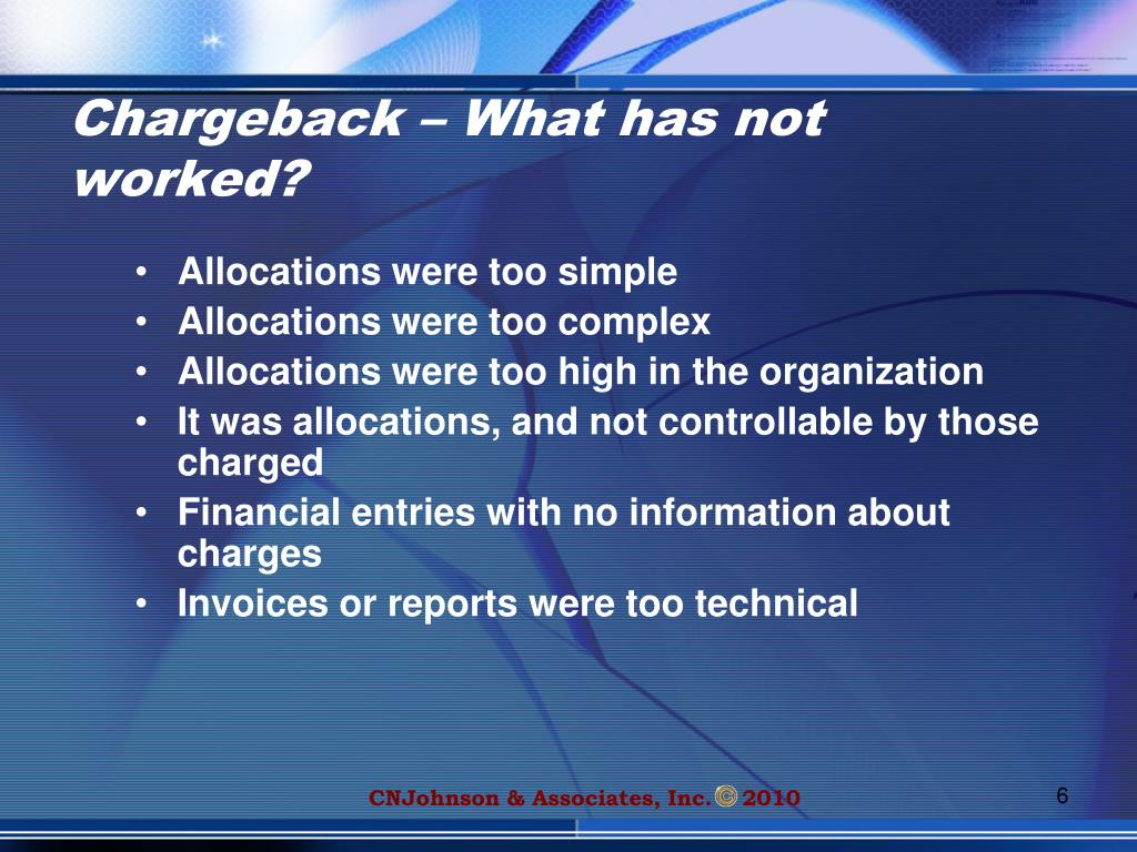 Chargeback – What has not worked?