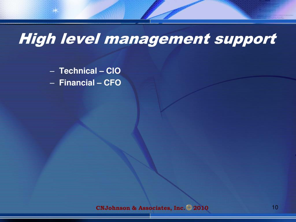 High level management support