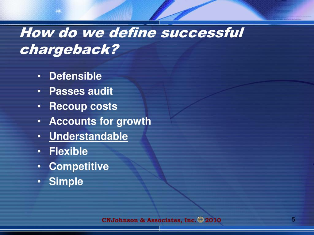 How do we define successful chargeback?