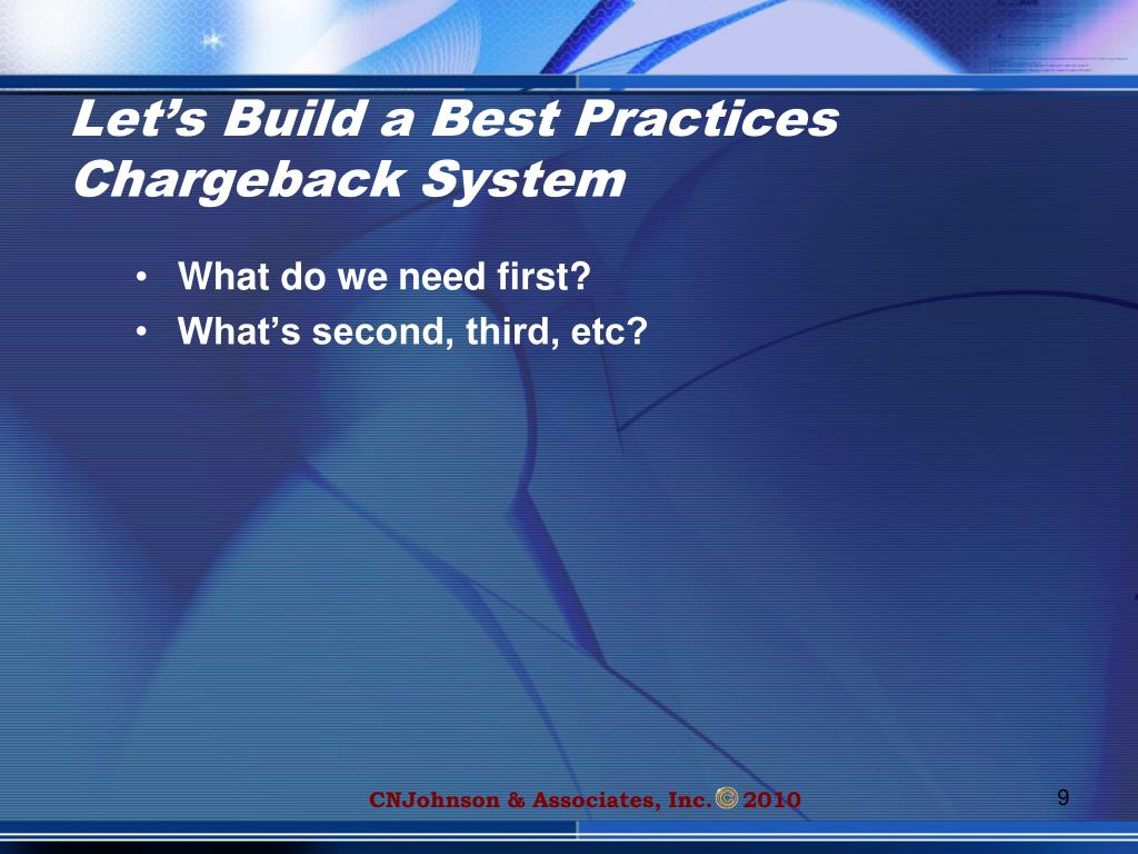 Let's Build a Best Practices Chargeback System