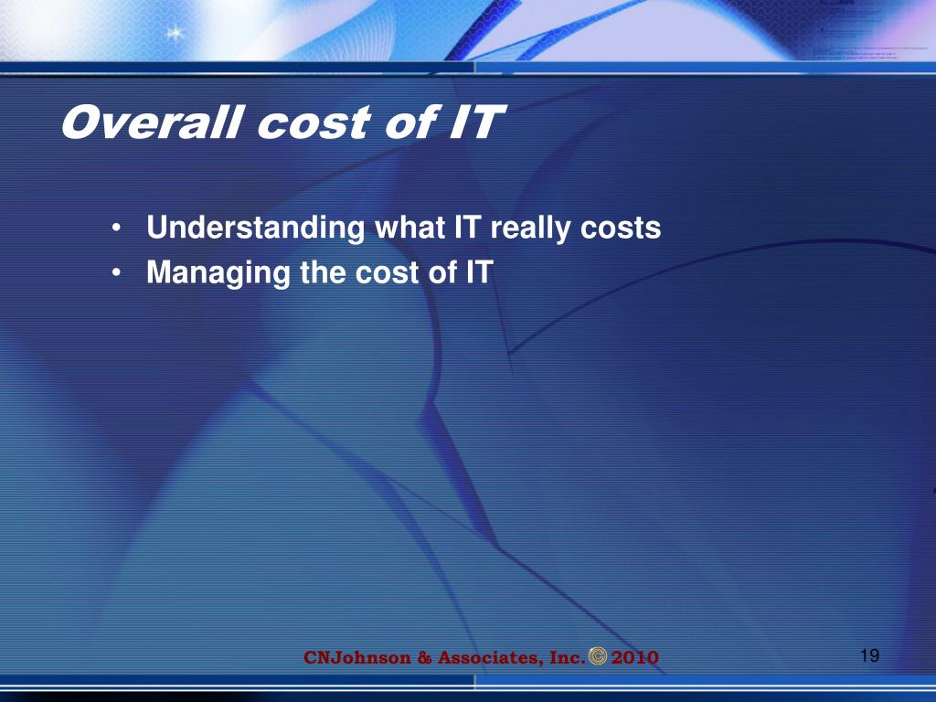Overall cost of IT