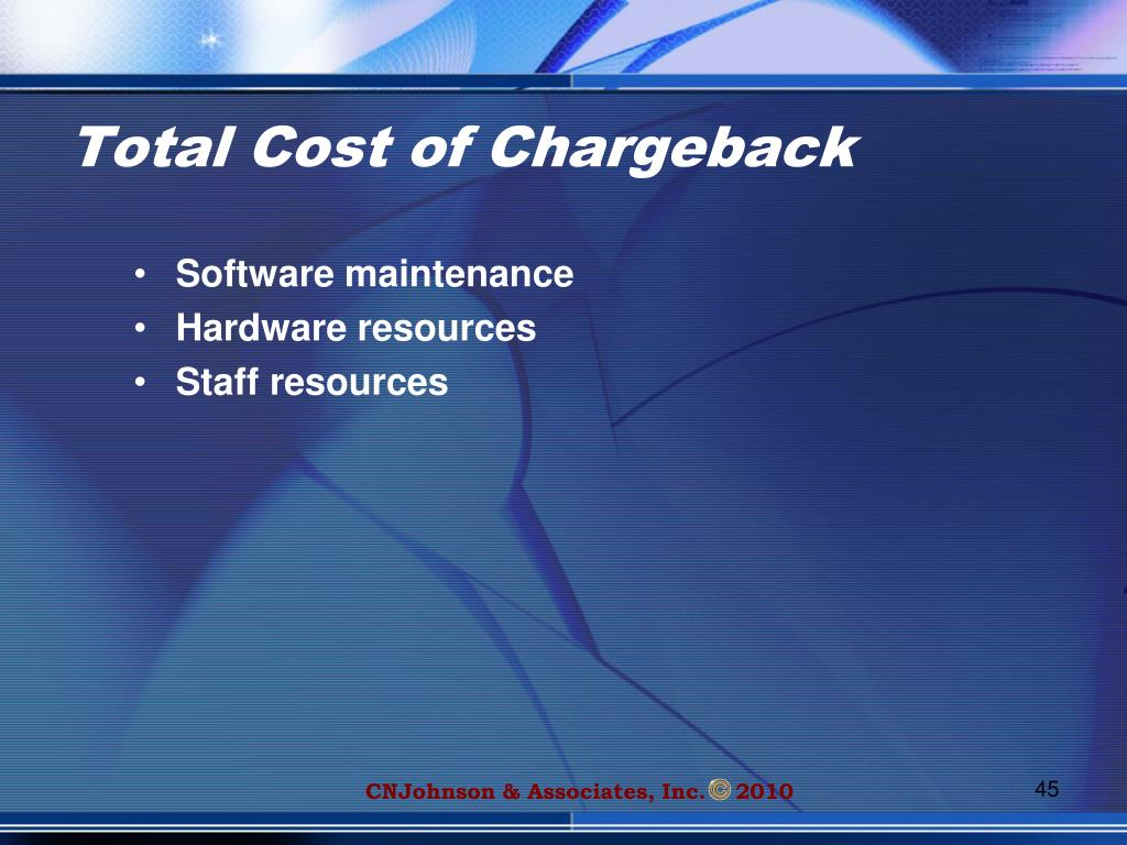 Total Cost of Chargeback