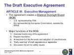 the draft executive agreement12