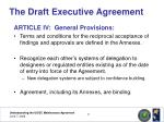 the draft executive agreement14