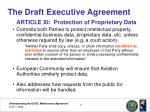 the draft executive agreement17