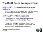 the draft executive agreement19