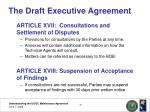 the draft executive agreement20