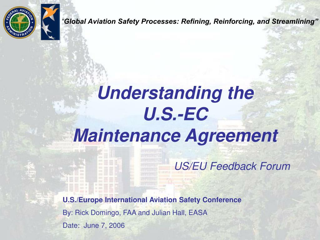 understanding the u s ec maintenance agreement
