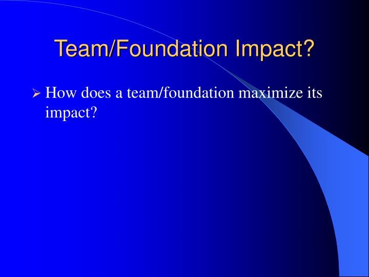 Team/Foundation Impact?