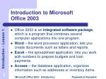 introduction to microsoft office 2003