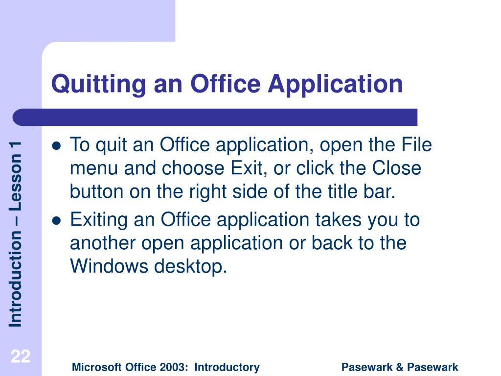 Quitting an Office Application