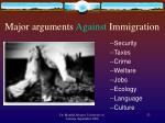 major arguments against immigration