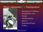 major arguments for immigration