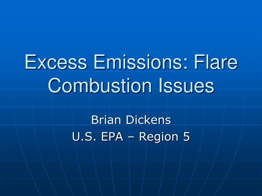 excess emissions flare combustion issues