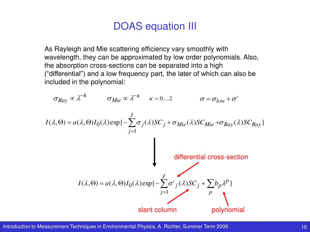 DOAS equation III