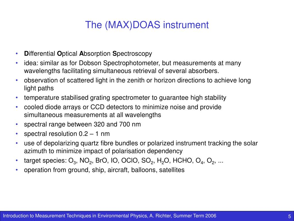 The (MAX)DOAS instrument