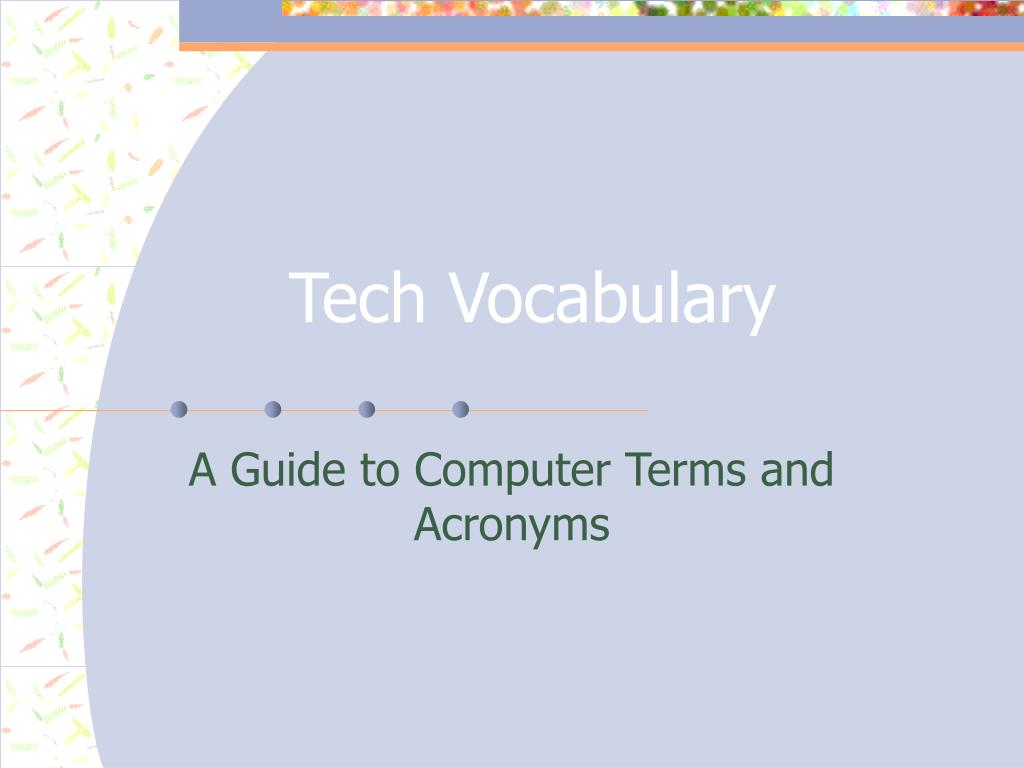 tech vocabulary