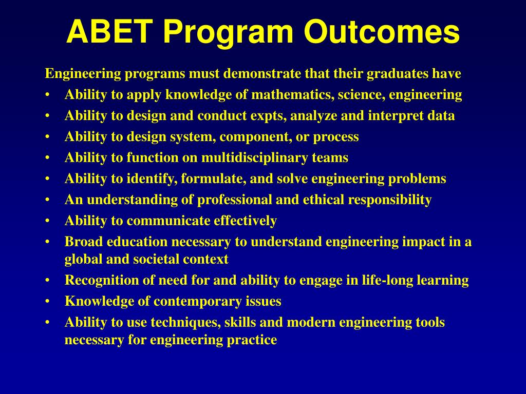 ABET Program Outcomes