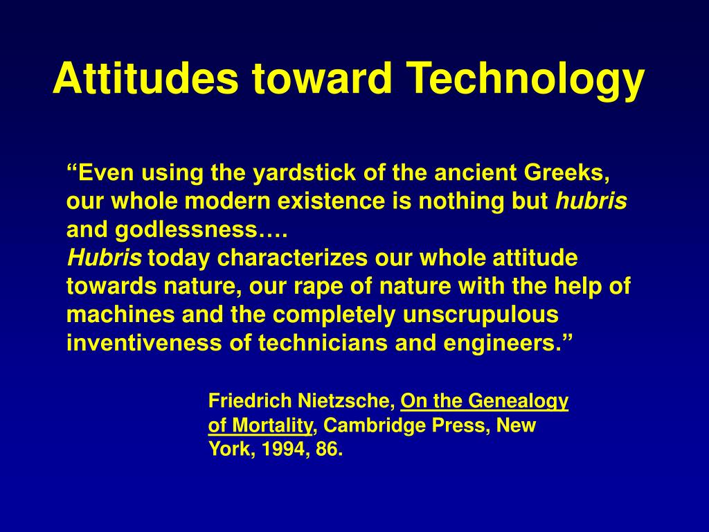Attitudes toward Technology