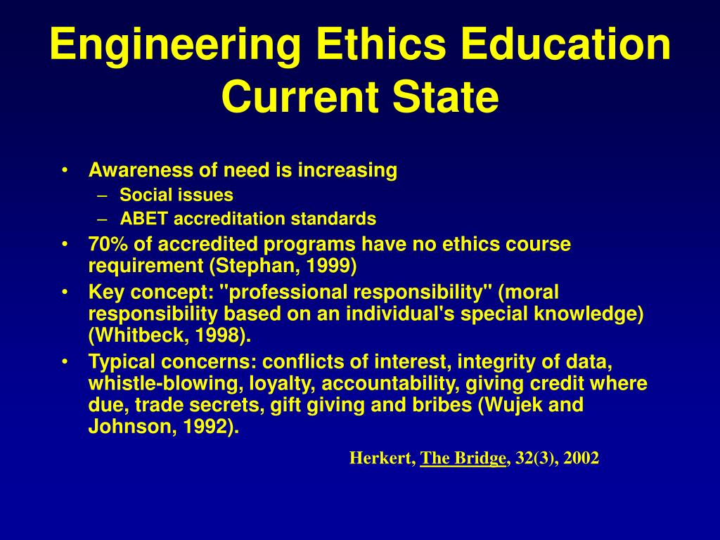 Engineering Ethics Education