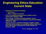 engineering ethics education current state