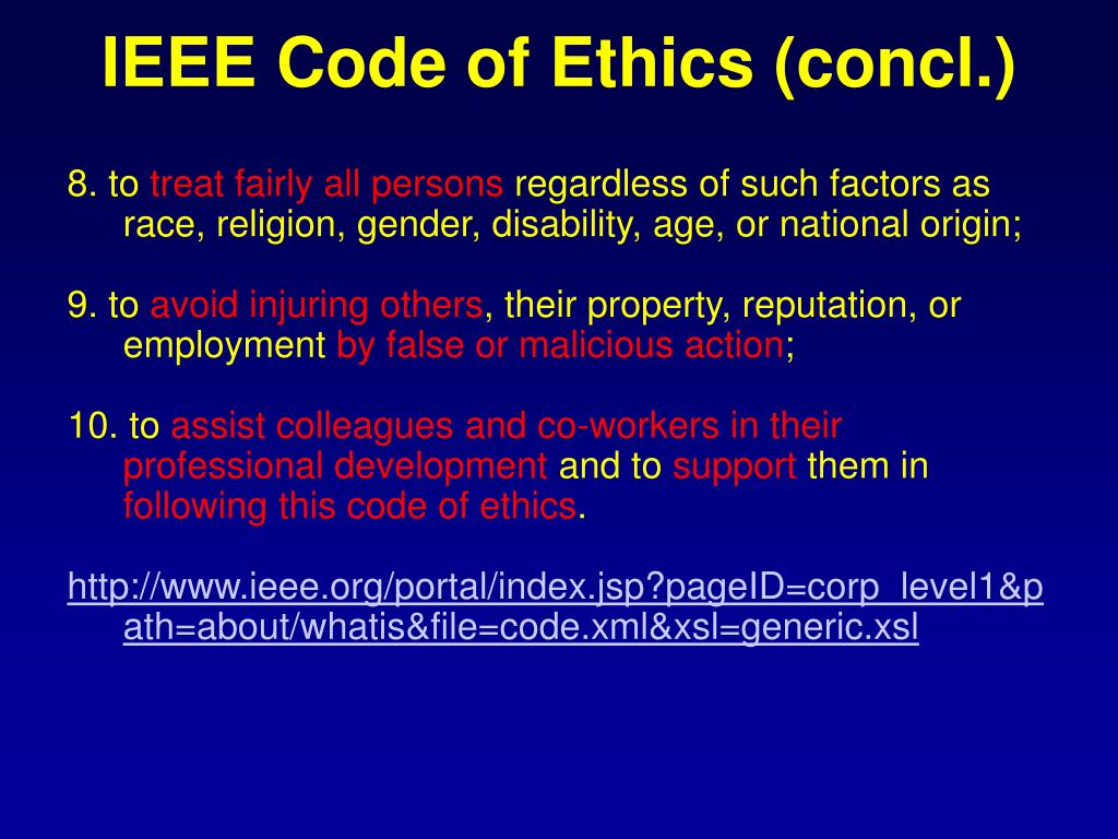 IEEE Code of Ethics (concl.)