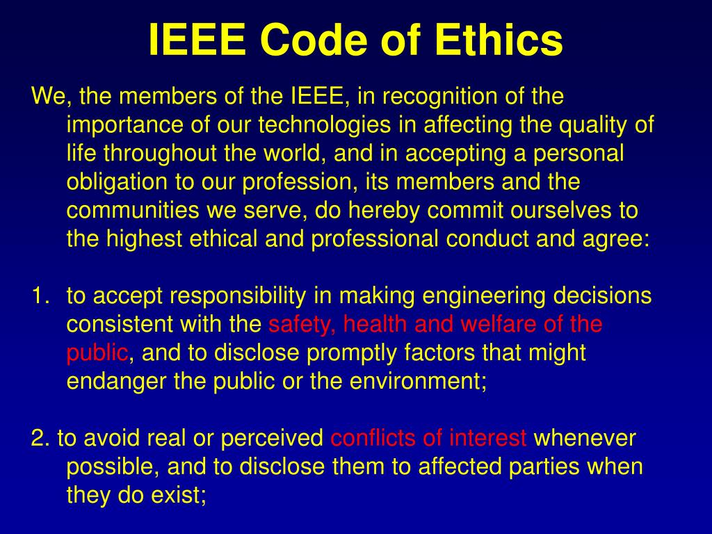 IEEE Code of Ethics