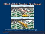 effect of cold front on fire spread