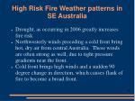 high risk fire weather patterns in se australia