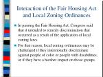 interaction of the fair housing act and local zoning ordinances15
