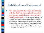 liability of local government49