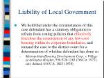 liability of local government50