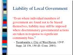 liability of local government52