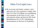 other civil rights laws27