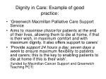 dignity in care example of good practice