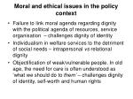 moral and ethical issues in the policy context