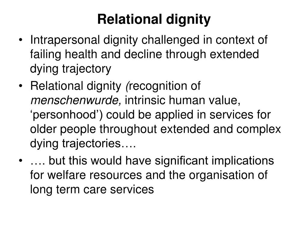 Relational dignity