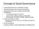concept of good governance