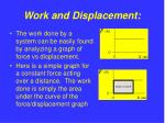 work and displacement