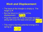 work and displacement10