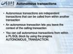 autonomous transaction s