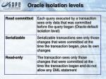 oracle isolation levels
