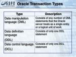 oracle transaction types