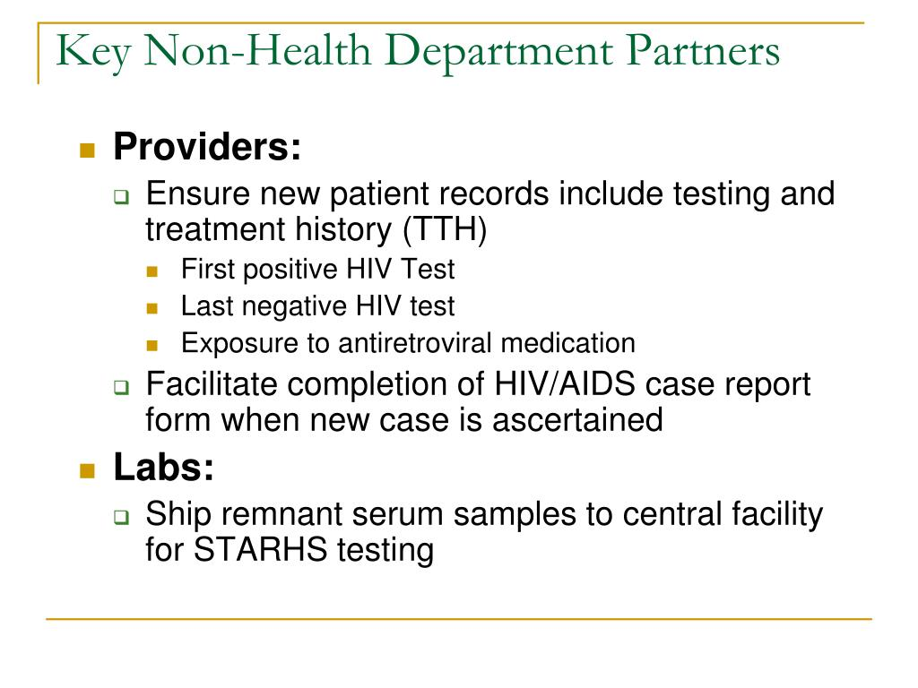 Key Non-Health Department Partners