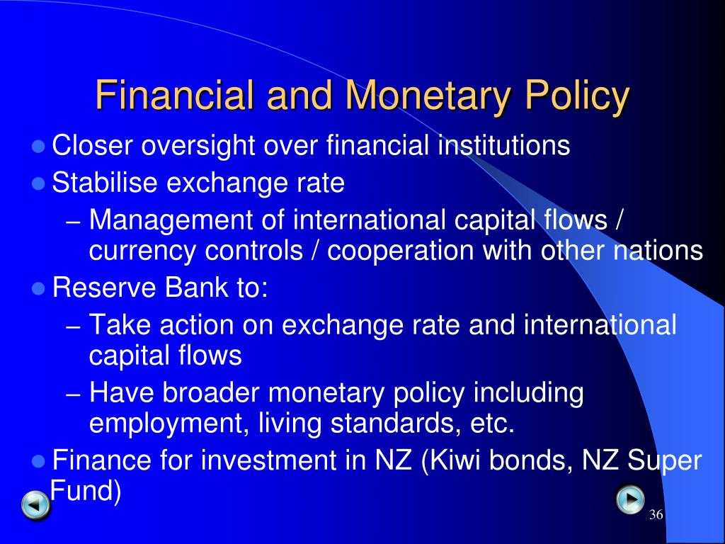 Financial and Monetary Policy