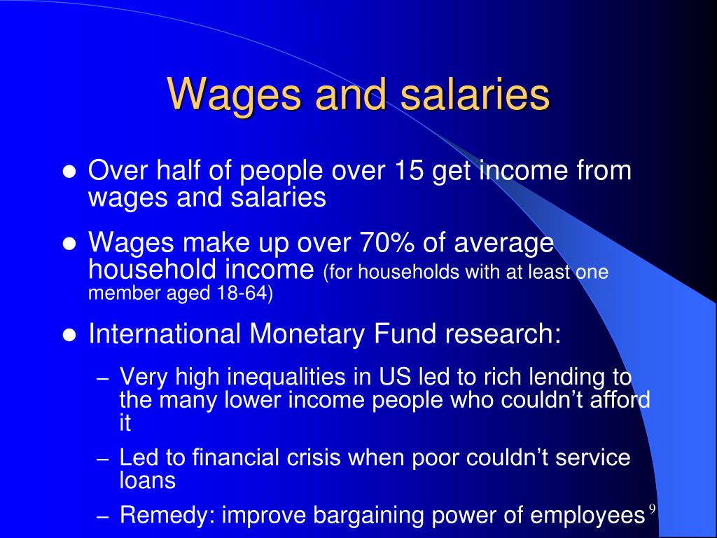 Wages and salaries