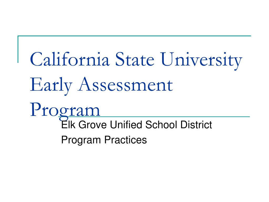 california state university early assessment program