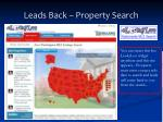 leads back property search