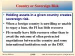 country or sovereign risk