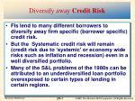 diversify away credit risk